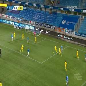 Molde 1-0 Haugesund - Etzaz Hussain 7'