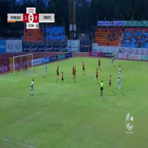 Prachuap 1-(1) Trat FC - Pornpreecha Jarunai amazing long shot goal (great goal)