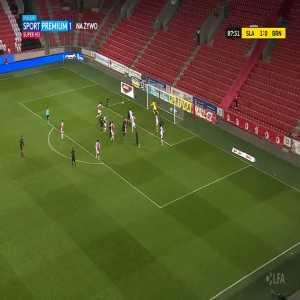 Slavia Praha 1-[1] Zbrojovka Brno - Jakub Šural 88'