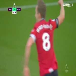 Southampton [2] - 0 Manchester United - Ward-Prowse (Free-kick) 33'