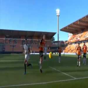 Teji Savanier (Montpellier) penalty miss against Lorient 45'+3'