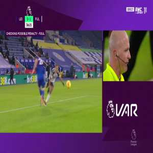Leicester 0 - [2] Fulham - Ivan Cavaleiro (penalty) 38'