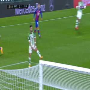 Takashi Inui (Eibar) disallowed goal for offside against Betis 34'