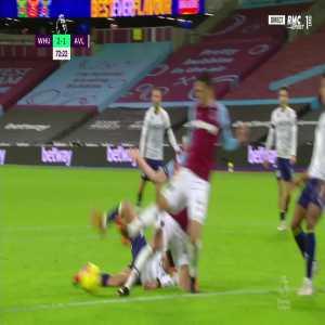 West Ham 2 - 1 Aston Villa - Ollie Watkins penalty miss 74'