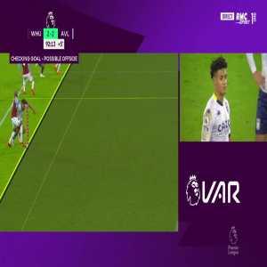 West Ham vs Aston Villa - Ollie Watkins disallowed goal 90+4'
