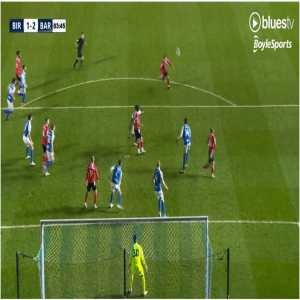 [EFL Championship] Birmingham City 1 - [2] Barnsley - Jonathan Leko, OG 76'