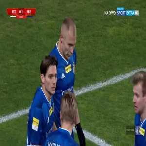 ŁKS Łódź 0-1 Miedź Legnica - Kamil Zapolnik 14' (Polish I liga)