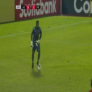 Arcahaie FC [1]-1 Forge FC - Kervens Jolicoeur goal after goalie mistake (58')
