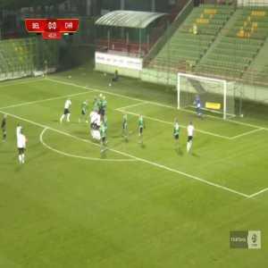 GKS Bełchatów 0-1 Chrobry Głogów - Maksymilian Banaszewski FK 41' (Polish I liga)