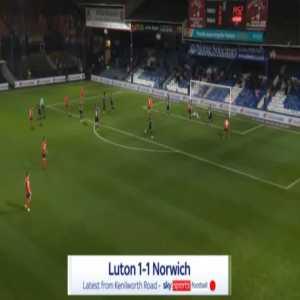 Luton 1-0 Norwich - George Moncur 15'