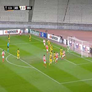 AEK 0-1 Braga - Vítor Tormena 7'