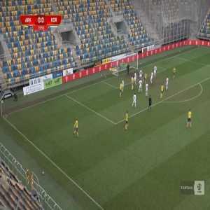 Arka Gdynia 1-0 Korona Kielce - Michał Marcjanik 14' (Polish I liga)