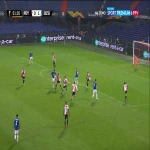 Feyenoord 0-2 Dinamo Zagreb - Lovro Majer 52'