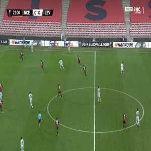 Nice 0-1 Bayer Leverkusen - Moussa Diaby 22'