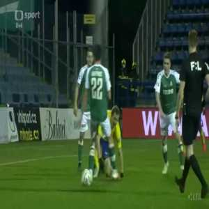 FC Fastav Zlin 0-0 FK Jablonec (Czech top league) - Player gets sent off for diving (red card after a second yellow card) 45'