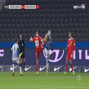 Robert Andrich (Union Berlin) straight red card against Hertha Berlin 23'