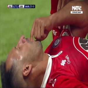 Teofilo Gutierrez (Junior) straight red card against Unión La Calera 85'