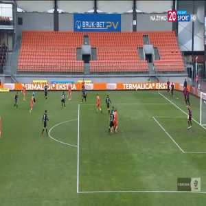 Bruk-Bet Termalica Nieciecza 1-0 ŁKS Łódź - Roman Gergel 45+1' (Polish I liga)