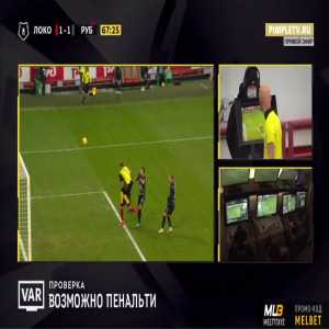 Lokomotiv Moscow [2]-1 Rubin Kazan - Anton Miranchuk penalty 69'