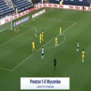 Preston 1-0 Wycombe - Tom Barkhuizen 14'