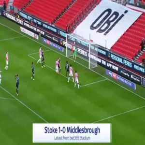 Stoke 1-0 Middlesbrough - Nathan Michael Collins 19'