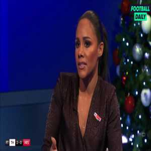 """Alex Scott: """"What are we doing with all the possession we have? Crossing to Aubameyang who has 3 headed goals out of 74. Every team will be happy conceding crosses against Arsenal."""""""