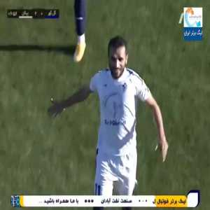 Peykan F.C. players scores straight from a somersault throw-in (Iranian league)