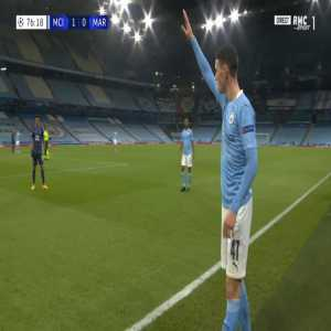 Manchester City 2-0 Marseille - Sergio Aguero 77'