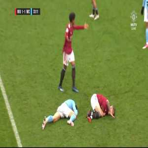 Adrian Bernabe (Man City U23) red card vs Man United U23