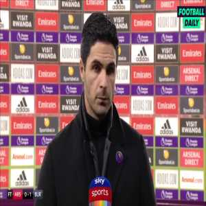"Arteta: ""We were dominant the whole game then we throw the game away with a silly red card, this was worse than Pepe's red card."" 