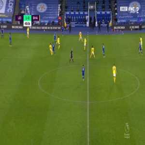 Leicester 2-0 Brighton - Jamie Vardy 41'