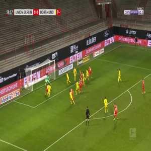 Union Berlin [1] - 0 Borussia Dortmund - Taiwo Awoniyi 57'