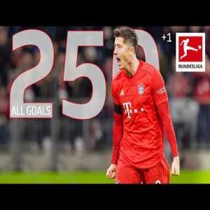 All of Robert Lewandowski's 250 Bundesliga goals
