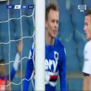 Sampdoria 1-0 Crotone - Mikkel Damsgaard 26'