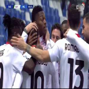 Sassuolo 0-1 Milan - Rafael Leão 1'
