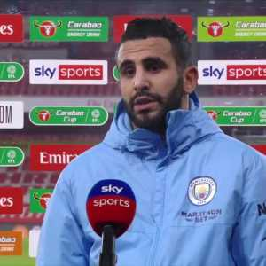 "Mahrez says he was surprised before he took the free kick: ""The position of the keeper... he was so close to the post. I thought he was going to move that's why I put it there but he didn't move. Luckily he didn't catch it properly."" 