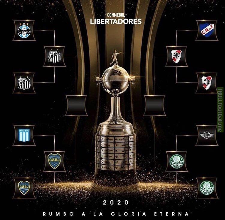 Copa Libertadores 2020 semifinals: Boca Juniors (ARG) vs. Santos (BRA) || River Plate (ARG) vs. Palmeiras (BRA)