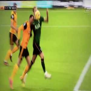Harry Kane penalty appeal vs Wolves
