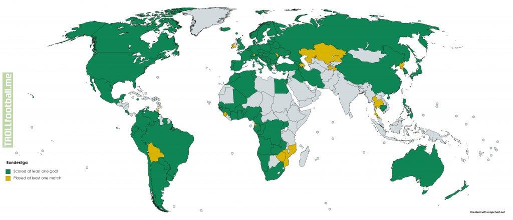Bundesliga International Players Map