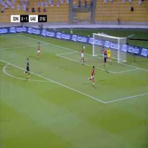 Indonesia 0-2 United Arab Emirates - Fabio Lima 28'