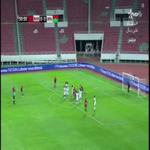Morocco 1-0 Burkina Faso - Achraf Hakimi free kick 51'