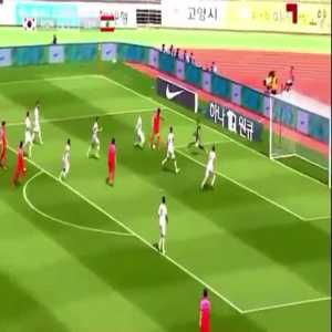 Maher Sabra unbelievable overhead goal-line clearance vs South Korea (30')