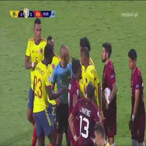 Luis Díaz (Colombia) red card vs. Venezuela (90+4')
