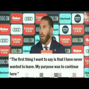 Sergio Ramos - Press Conference : Talks about his frustrated renewal for Real Madrid