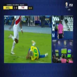 VAR: Brazil vs Peru penalty shout 64'