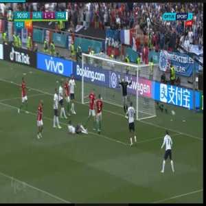 Hungary France  Raphaël Varane Header miss 90+4'   Euro 2020