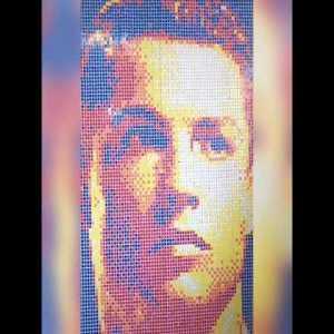 Christiano Ronaldo Portrait using Rubik's Cube