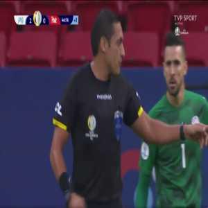 Júnior Alonso (Paraguay) disallowed own goal 45+1'