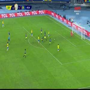 Firmino's crazy quasi-assist to Neymar in today's Copa America match