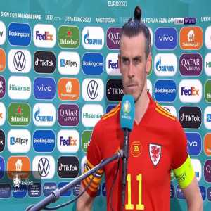 """Bale """"(On the second goal) If you play the ball through the back of someone it's a foul, I feel like the referee was influenced by a lot of supporters here but no point in making excuses now."""" Then walks off when he's asked about his international future again 